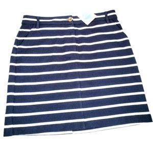 NEW! Boden Navy and white stripe skirt size US 6 r